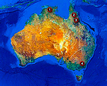 Australian hunts map image